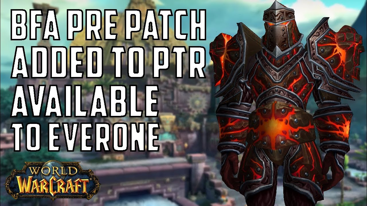 world of warcraft pre patch