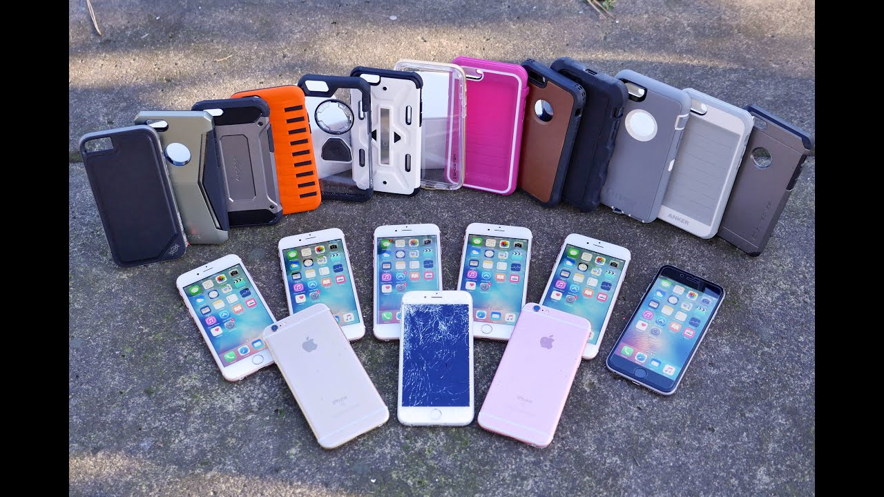 reputable site 3f0c7 a992d Top 12 iPhone 6S Cases Drop Test Part 2! Most Durable iPhone 6S Case?