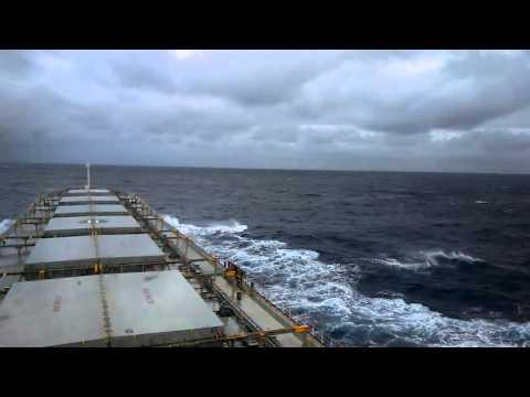 Ship navigating through calm pacific-3