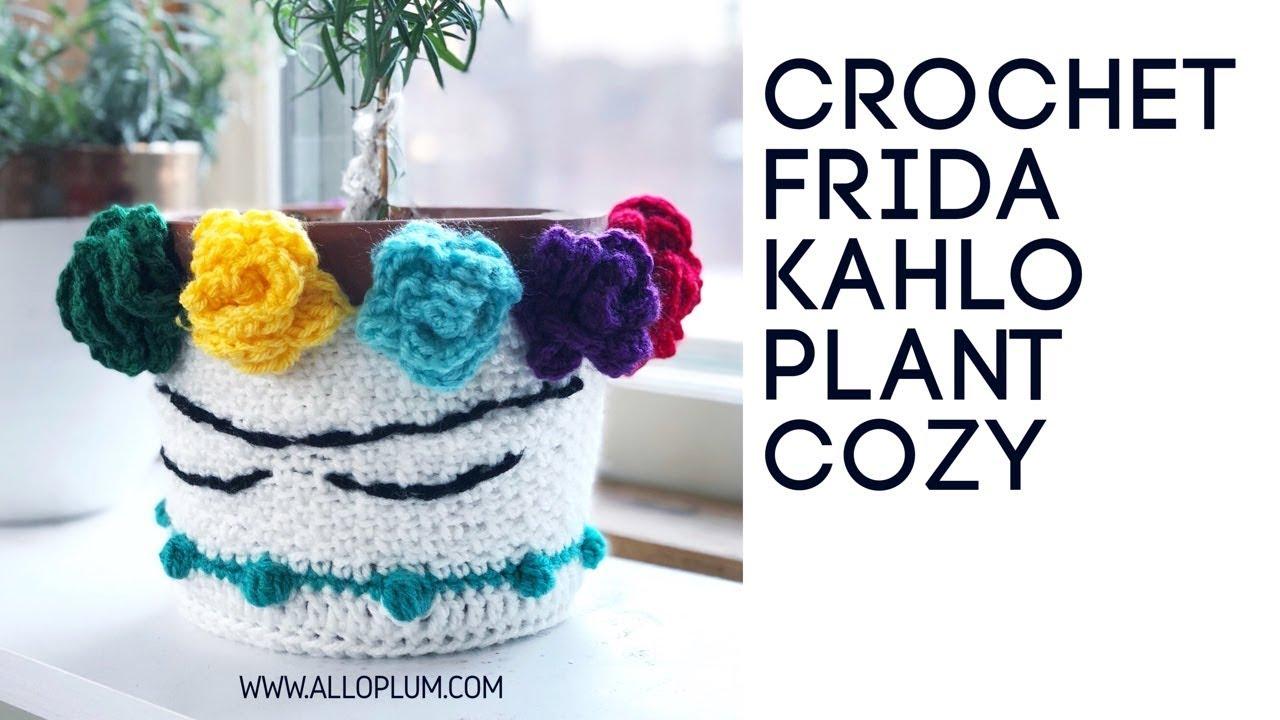 Crochet a Frida Kahlo Plant Cozy — Allo Plum