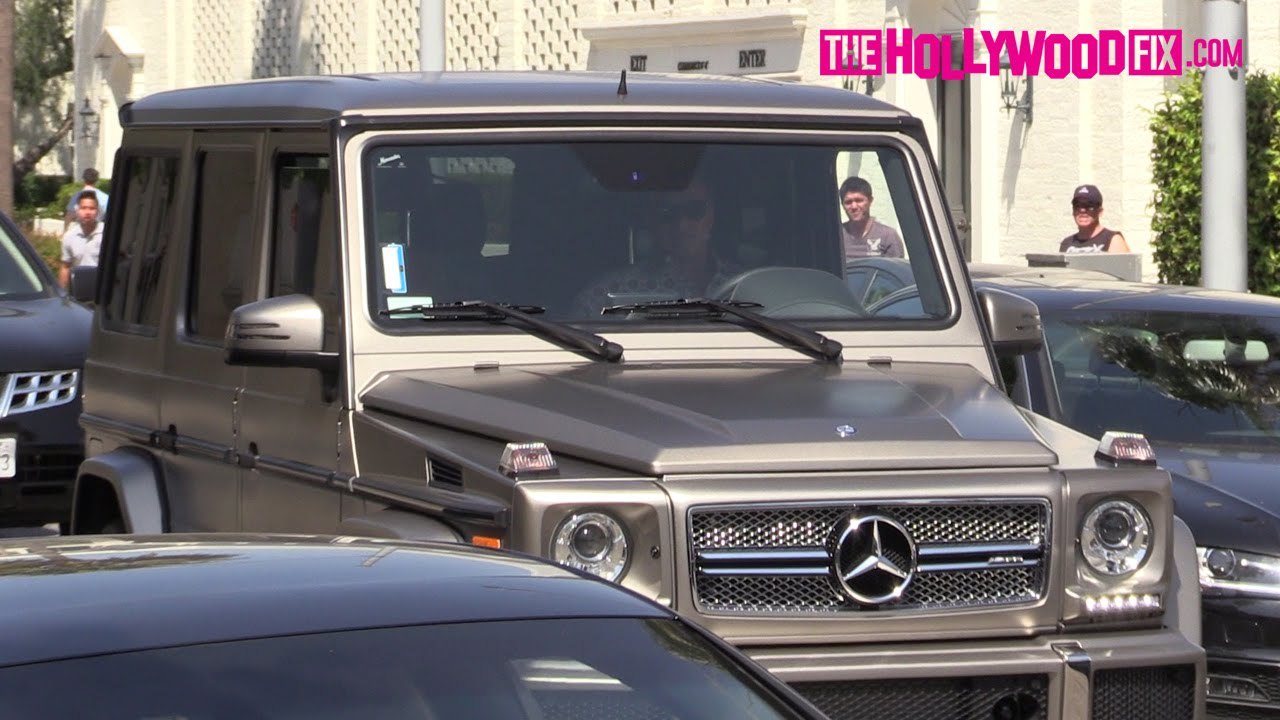sylvester stallone cruises through beverly hills in his custom