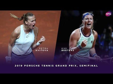Petra Kvitova vs. Kiki Bertens | 2019 Porsche Tennis Grand Prix Semifinal | WTA Highlights