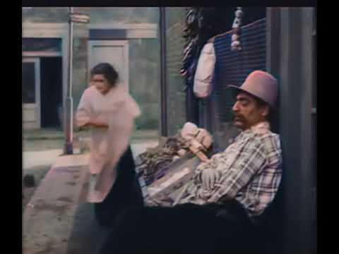 Charlie Chaplin Easy Street (1917) - Color (Laurel & Hardy)