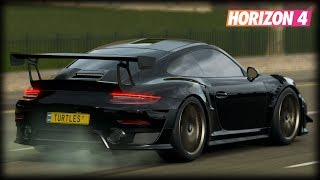 Симрейсер в Forza Horizon 4. Кольцевая гонка 125% сложность на Porsche 911 GT2 RS 2018.