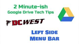 Google Drive Side Menu Bar