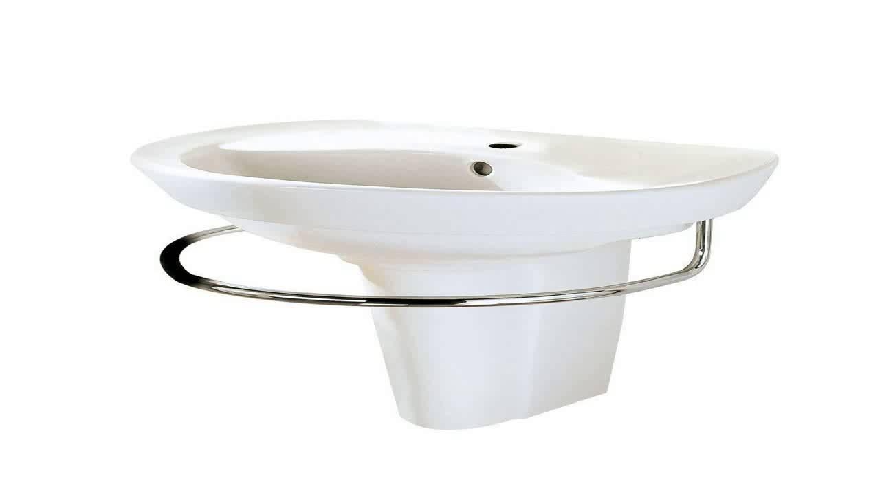 american standard ravenna pedestal sink leg white