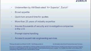 Security Guard Insurance, Detective and Alarm Company Insurance- 2 of 3