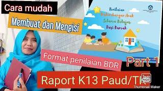 Panduan Cara Membuat Mengisi Raport Paud Kurikulum 2013 Paud Jateng Cute766