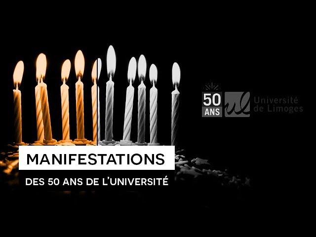 Manifestations des 50 ans de l\'Université