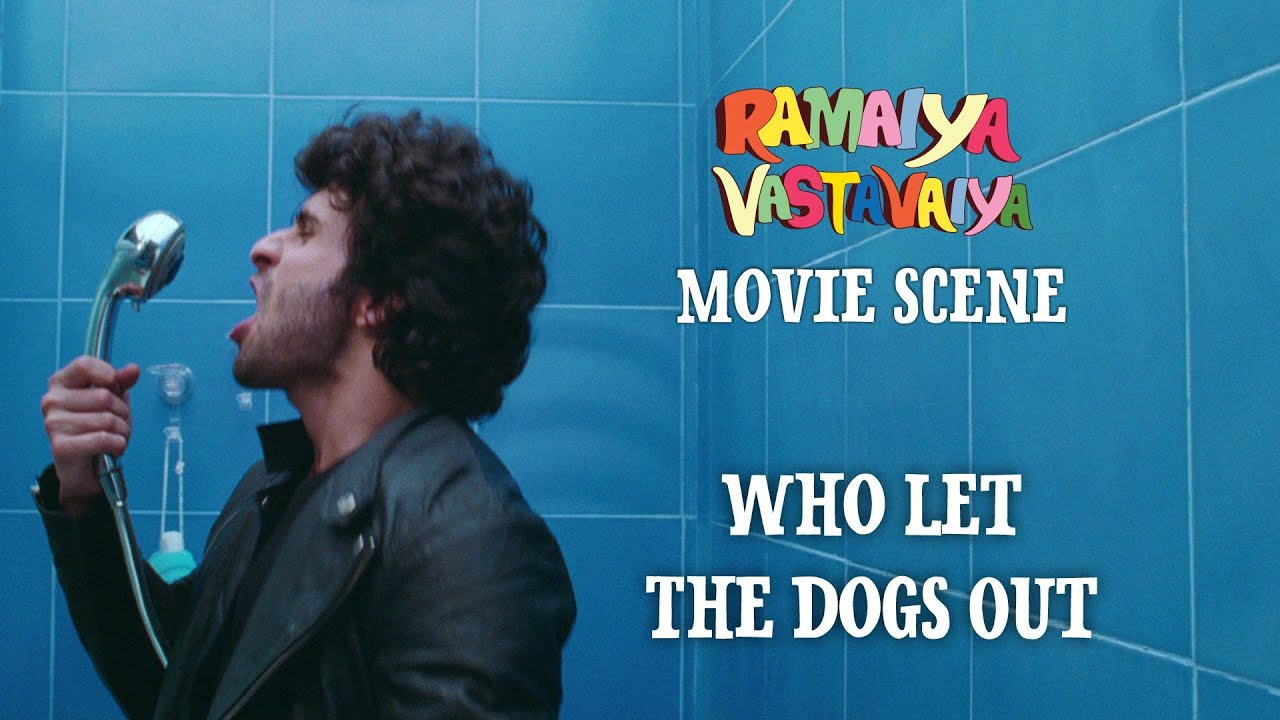 Who let the dogs out   ramaiya vastavaiya scene   girish kumar ...