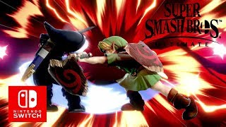super smash bros ultimate  jonge link smash voor hyrule