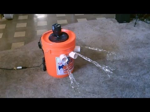 "Homemade Air Conditioner DIY - The ""5 Gallon Bucket"" Air Cooler! DIY- can be solar powered!"