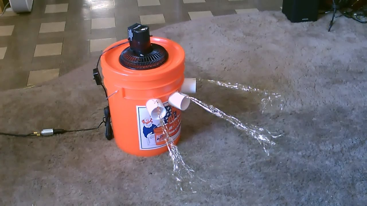 Garage Water Fan Homemade Air Conditioner Diy The