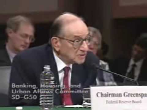 "Greenspan states ""cannot guarantee purchasing power"" Senate Banking Committee 2005"