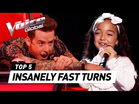QUICKEST COACH TURNS in The Voice Kids