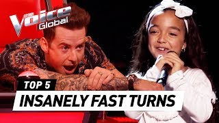 Download lagu QUICKEST COACH TURNS in The Voice Kids