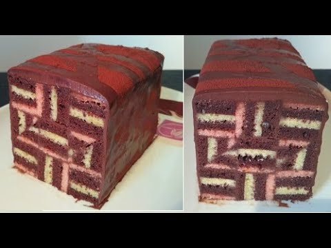 gâteau-rayé-,-inspiration-op-art-style/recette-stripe-cake-,-ganache-au-chocolat
