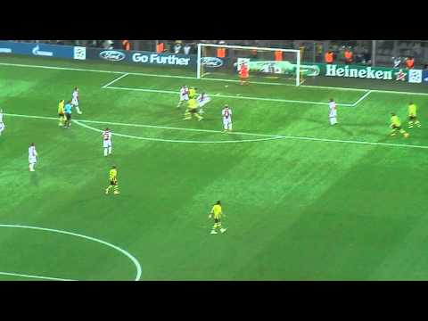 Borussia Dortmund vs. Ajax Amsterdam/[HD]/TOR/BVB - Ajax/1:0/LIVE/2012/Lewandowski/Goal/Highlight