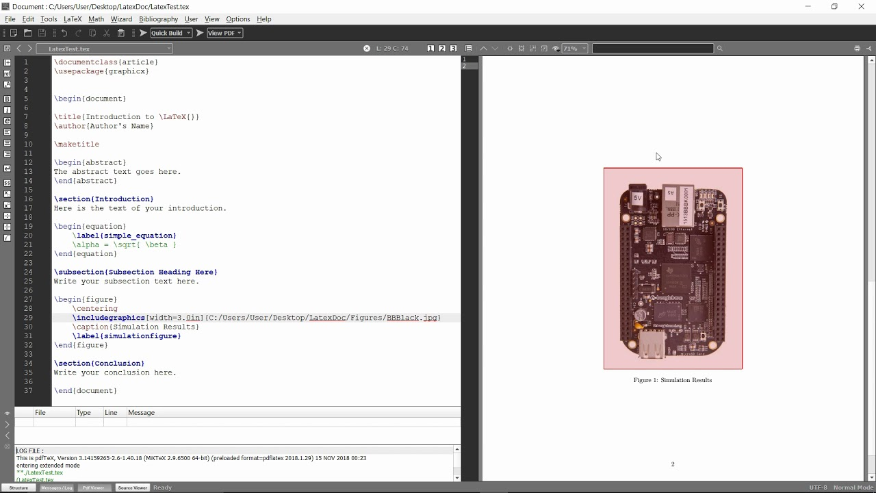Latex How to Add Images in Folders to Document Texmaker