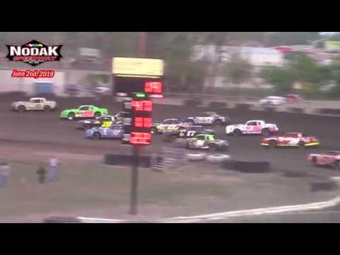 Nodak Speedway IMCA Stock Car A-Main (6/2/19)