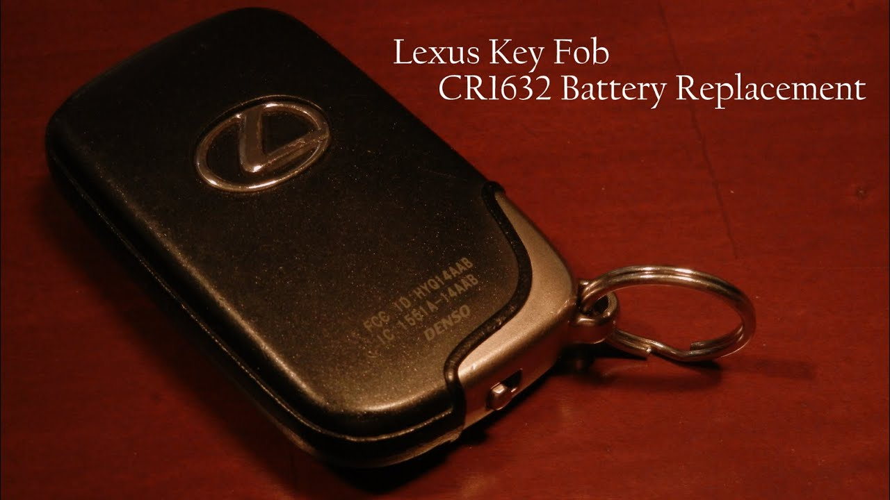 Lexus Key Fob Replacement >> Lexus Key Fob Battery Replacement - Quick & Easy - YouTube