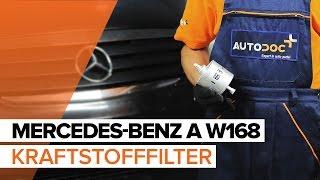 Montage Dieselfilter selbst Videoanweisung auf MERCEDES-BENZ A-CLASS