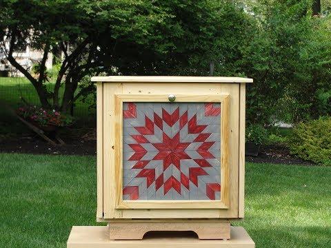 How to Make a Tilt out trash bin out of pallet wood.
