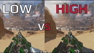 Apex Legends Graphics Settings Comparison - Low VS High