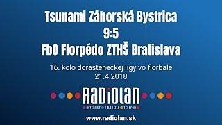 21. 4. 2018 BADo liga dorastu 16. kolo, Tsunami Záhorská Bystrica - FbO Florpédo ZTHŠ Bratislava, SZFB