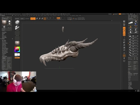 Dragon skeleton modeling with Jon - Art of Camelot Unchained - 3/6/2018