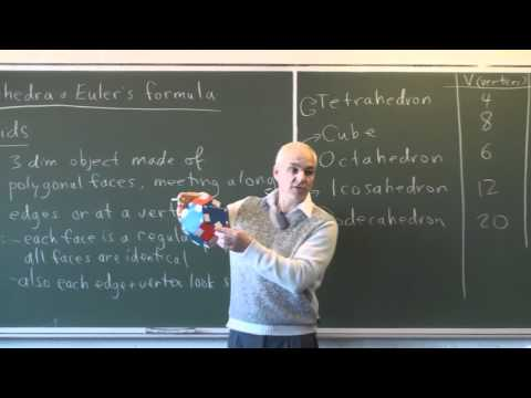 AlgTop8: Polyhedra and Euler's formula