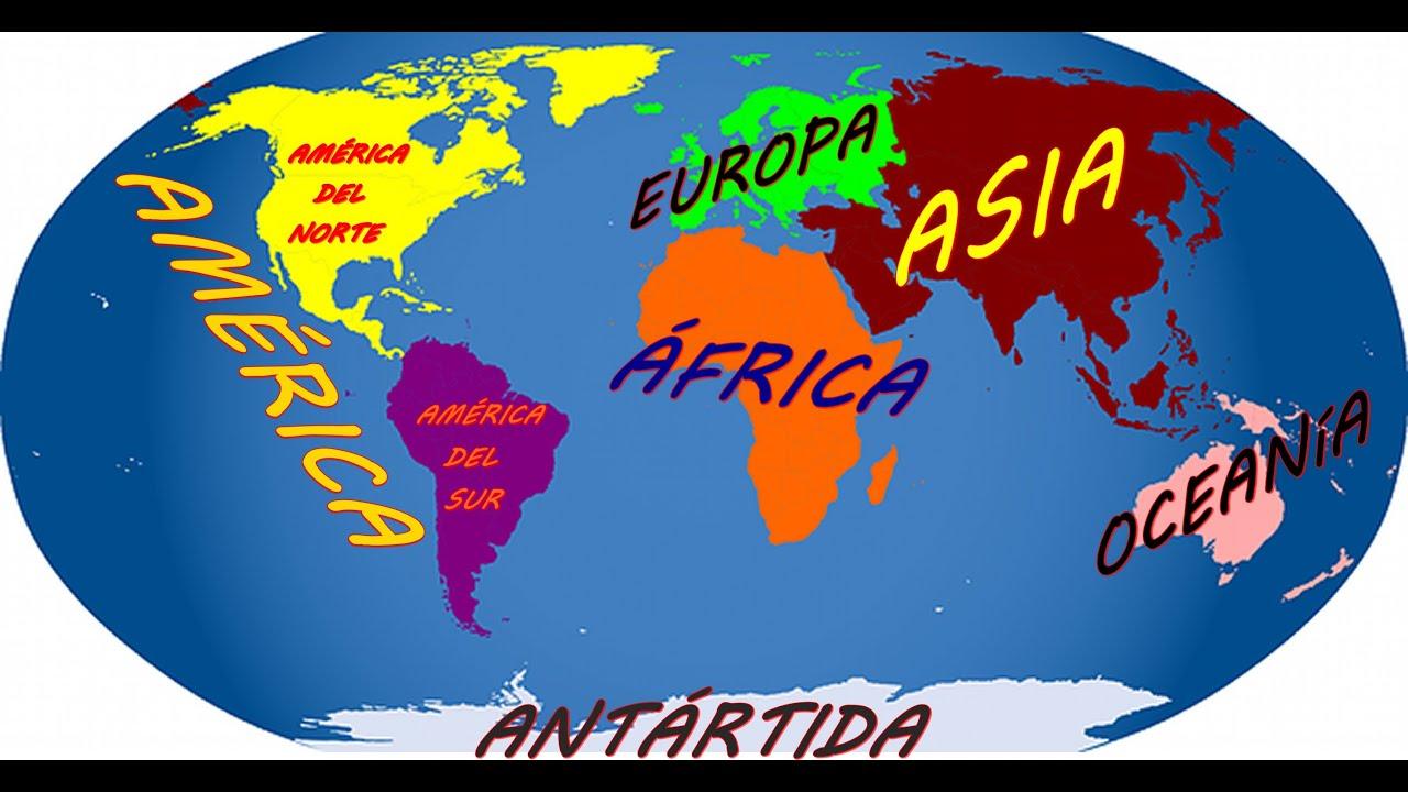 Los Continentes Y Oceanos Que Es Un Continente Y Cuales Son Youtube