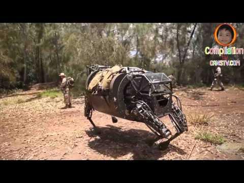 War Robot : Marine LS3 robot patrols with Marines
