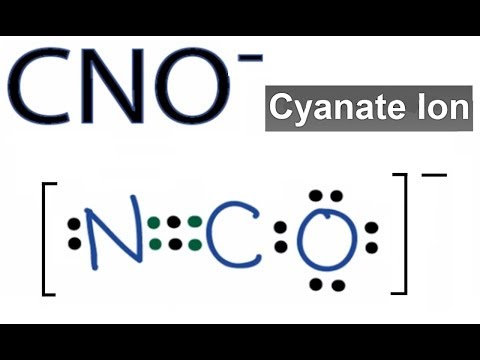 CNO- Lewis Structure: How to Draw the Dot Structure for the CNO- (Cyanate Ion)