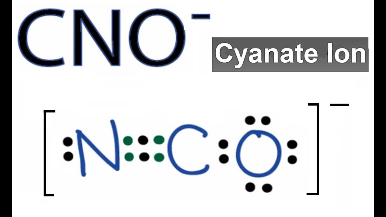 Cno- Lewis Structure  How To Draw The Dot Structure For The Cno-  Cyanate Ion