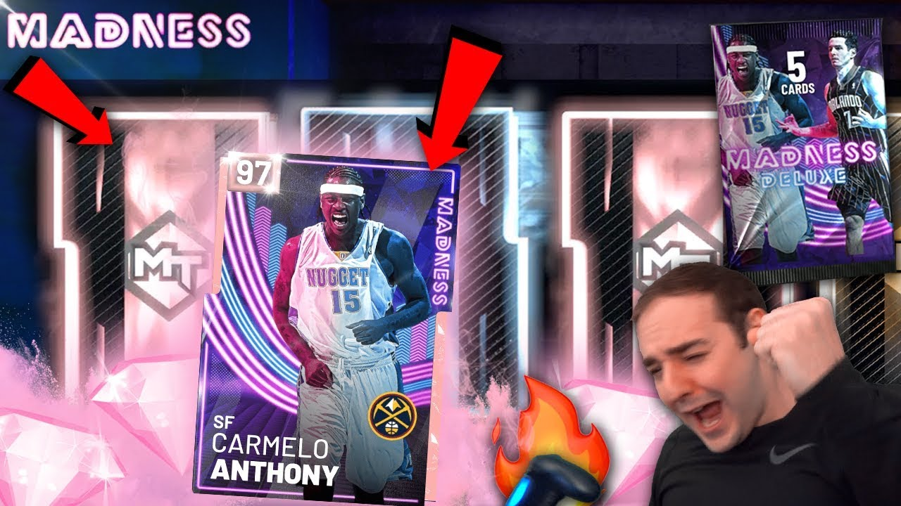NBA 2K19 My Team PINK DIAMOND CARMELO ANTHONY! INSANE MADNESS PAC - VideoBring