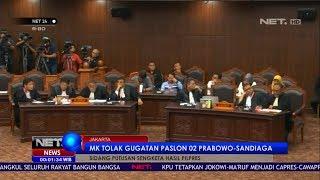 Gambar cover MK Tolak Gugatan Paslon 02 Prabowo - Sandiaga - NET 24
