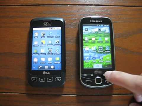 PART 1: Samsung Intercept vs LG Optimus V - a side-by-side comparison