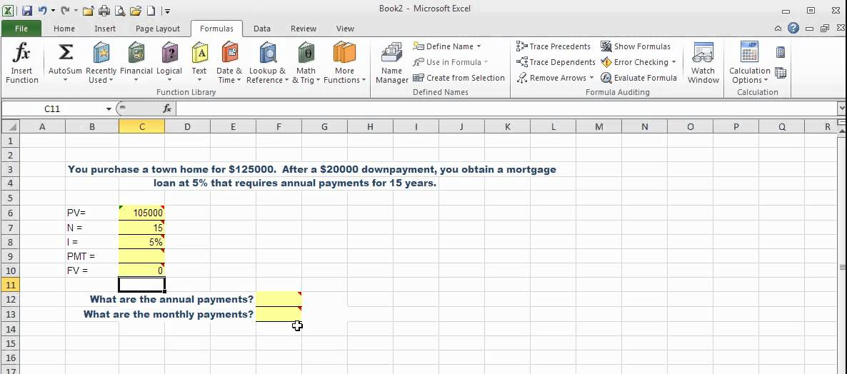 how to calculate time value of money in excel