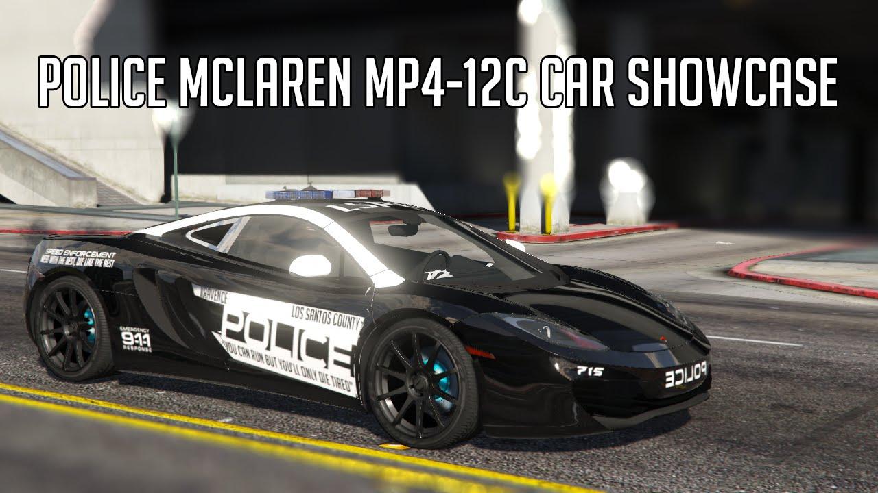 gta v - police mclaren mp4-12c car showcase - youtube