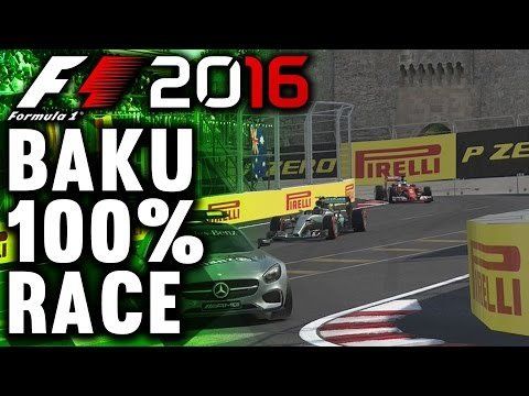 F1 2016 GAMEPLAY BAKU 100% RACE: LEWIS HAMILTON