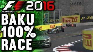 F1 2016 GAMEPLAY BAKU 100% RACE: LEWIS HAMILTON