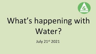 Whats happening with water?
