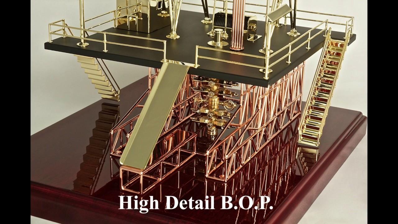 Oilfield Oil Rig Model Derrick Jhm 312 Gas Gifts