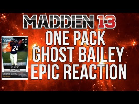 MUT 13: Pulling Ghost Champ Bailey in just 1 pack | Madden Ultimate Team