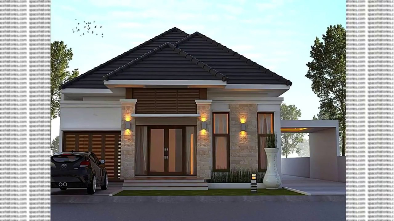 Relief Tiang Teras Rumah Model Of Natural Stone Terrace Of Minimalist House