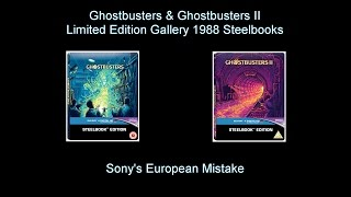Sony's Ghostbusters & Ghostbusters II Limited Edition Gallery 1988 Steelbook Mistake