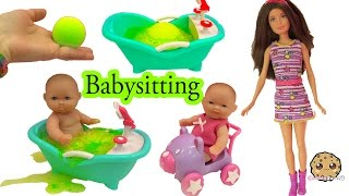 Barbie Babysits Baby My Sweet Love Twins + Color Twist Water - Cookieswirlc Video