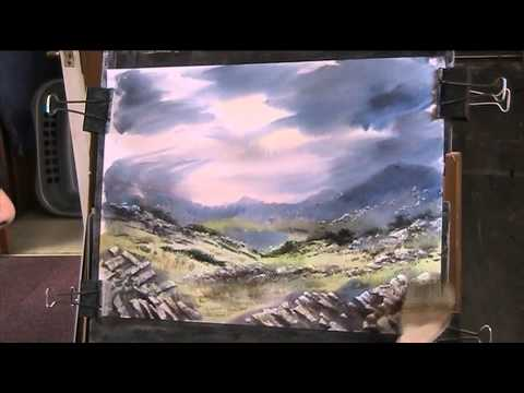 A Day out in The Welsh Mountains  Watercolour