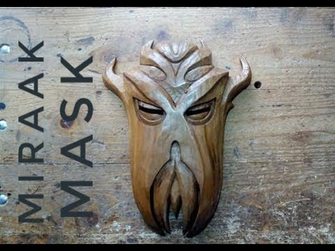 Miraak Mask Hand Carving
